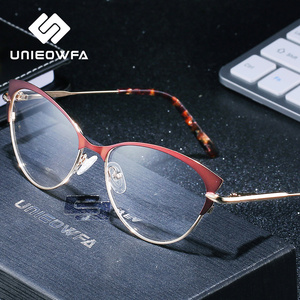 Image 3 - Retro Cat Eye Optical Myopia Glasses Frame Women Progressive Prescription Eyeglasses Frame Clear Degree Eyewear Frame Spectacles