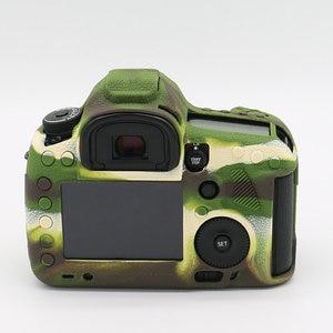 Image 4 - سيليكون الجلد DSLR حقيبة كاميرا الجسم حالة لكانون EOS R 6D 80D 800D 750D 4000D 5DSR 5D مارك الثالث الرابع 5D3 5D4 200D SL2 T100 T7i