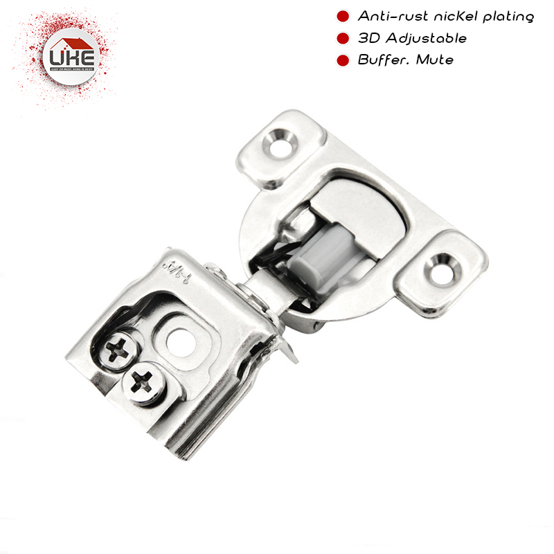 DTC Brand 1/2 American Hydraulic Buffering Hinge Cabinet Hinges  Damper Buffer Soft Close Clip On Furniture Hinge For Wood Door