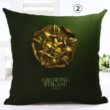 45*45cm Linen Vintage Cushion Cover Game Of Thrones Sofa Decorative Throw Pillow Home Chair Car Seat Pillow Case Dropshipping shabby chic car decorative cushion cover retro truck mini bus game chair pillow cover 45cm pillow case home decor sofa bedding