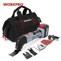 Workpro Elettrico Multifunzione Oscillante Tool Kit Spade Agli Ioni di Litio Strumenti Oscillanti Taglierina Elettrica Seghe