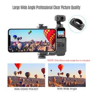Image 5 - Ulanzi OP 5 0.65X רחב זווית עדשת מגנטי רחב זווית עדשת מצלמה עבור DJI אוסמו כיס Gimbal מצלמה אבזרים
