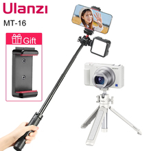 Ulanzi MT-16 Extend Tripod with Cold Shoe for Microphone LED Light Smartphone SLR Camera Vlog Tripod for Sony Canon