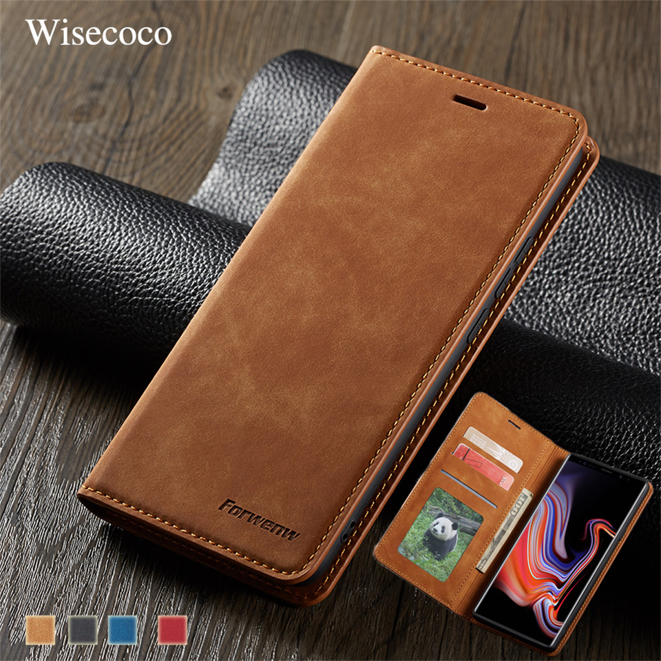 Leather Flip Case For Samsung Note 9 10 S10 S9 S8 S7 J4 J6 Plus A6 A7 A8 2018 A30 A40 A50 A60 A70 A80 A90 Magnetic Wallet Cover