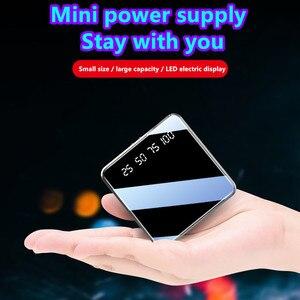Image 5 - 10000mAh מיני נייד כוח בנק תשלום מהיר מראה מסך תצוגת LED Powerbank פנס תאורה עבור חכם טלפון נייד