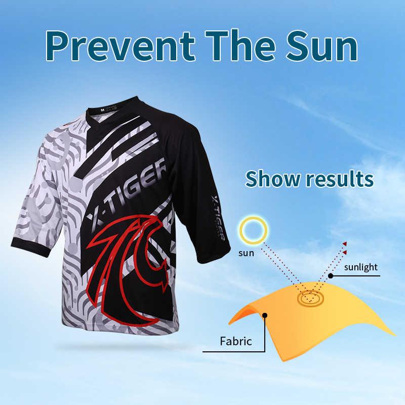 Koszulka z długim rękawem x-tiger DH 100% poliester koszulka zjazdowa odzież rowerowa zestaw rowerowy oddychające koszulki kolarskie z anty-potu