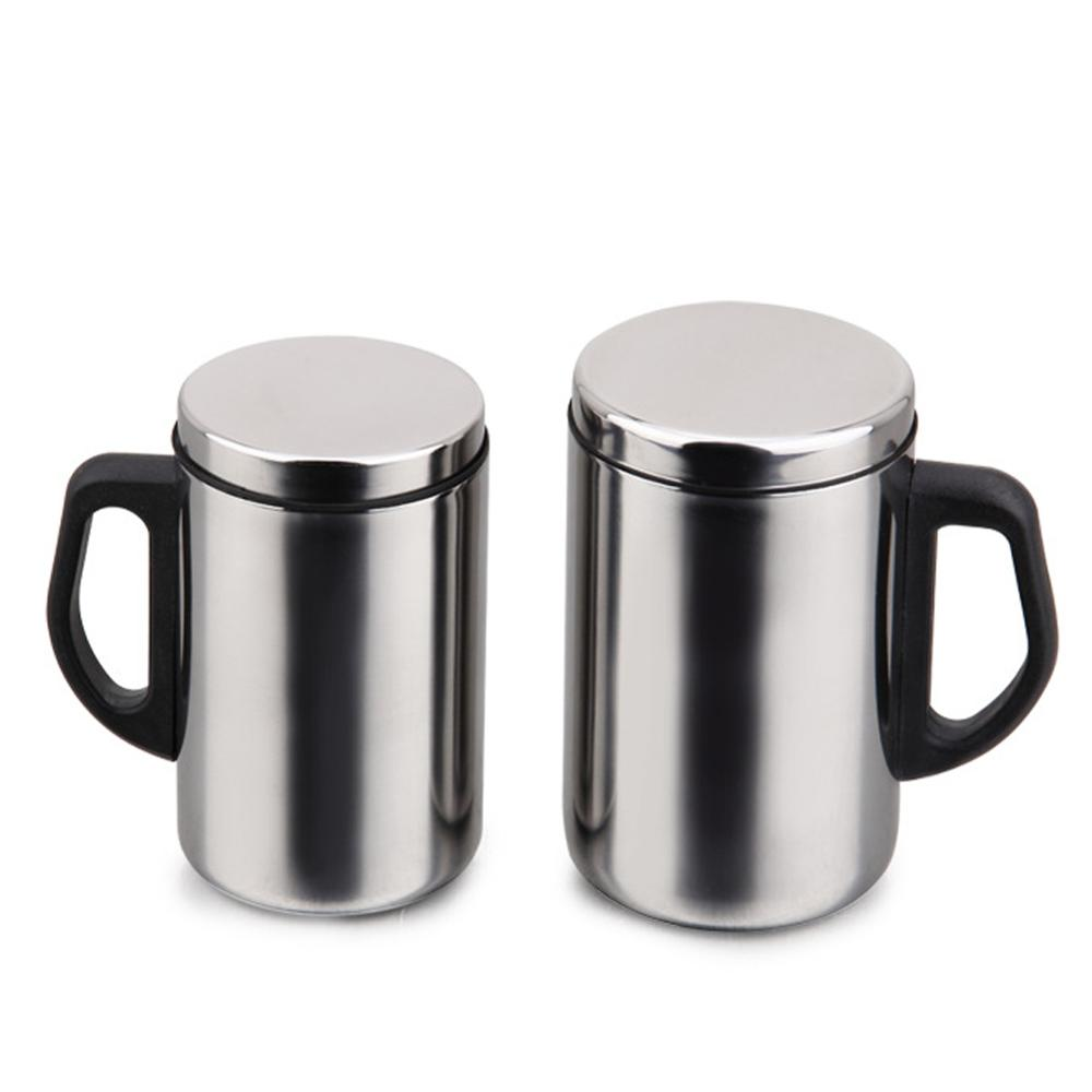 1PC 350/500ml Stainless Steel Mug Cup Double Wall Portable Travel Coffee Tea Cups 40DC12