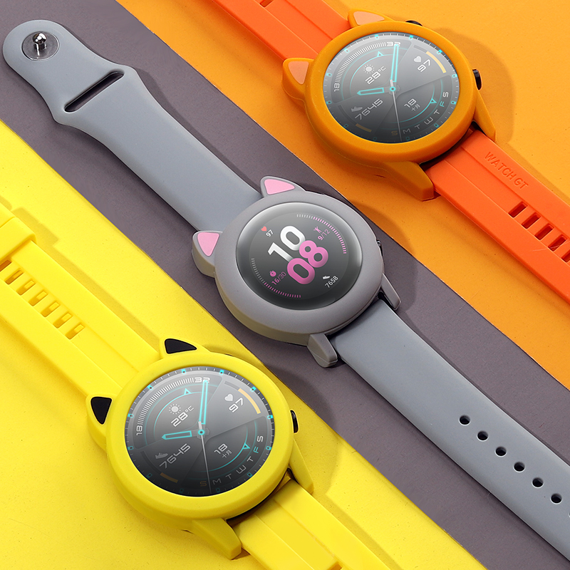 Case do Relógio para Huawei Protetora de Silicone para Honra Relógio Macio Capa Mágico 2 Case 42mm 46mm Protetor Manga Quadro Gt2
