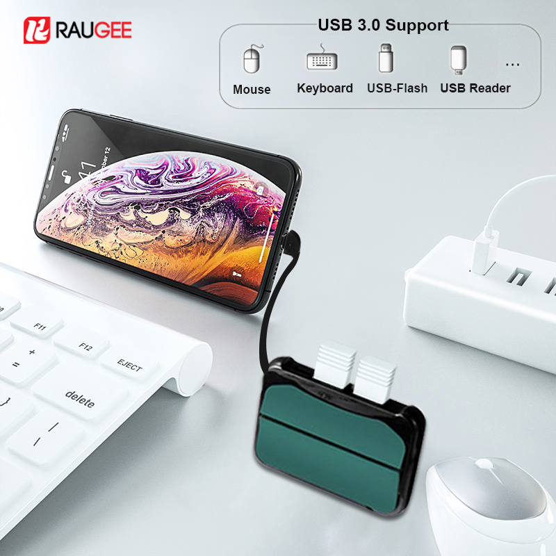 USB Adapter For IPhone IOS 13 USB Converters Lightning To USB 3.0 OTG Adapter Dual USB HUB Converter For IPad To Keyboard Camera
