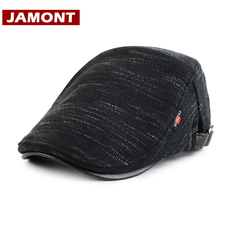 Beret Knitted Caps Hats Visors-Cap Winter-Hat Warm Autumn Women JAMONT Casual for Flat