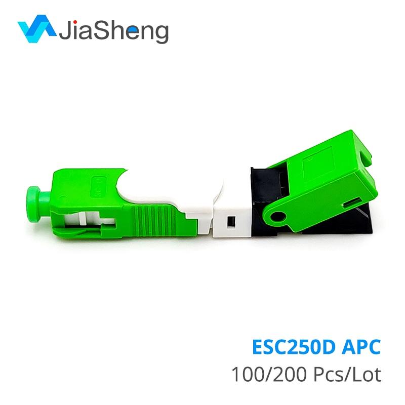 Wholesales FTTH ESC250D APC Single-Mode Fiber Optic SC APC Quick Fast Field Assembly Connector For Drop Cable
