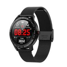 L9 di Colore Uomini di Smart Orologio Bluetooth Dello Schermo Cardiogramma + PPG HRV Frequenza Cardiaca Sfigmomanometro IP68 Braccialetto Intelligente per Android IOS(China)