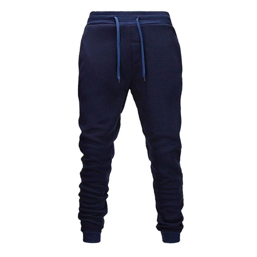 Shun Princes Navy Blue Men Pants  Fashions Joggers Pants Male Casual Sweatpants Bodybuilding Fitness Track Pants  Sweat Trouser