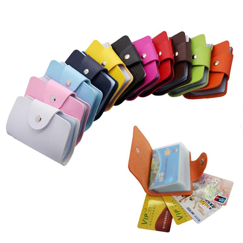 PU Leather Card Holder Credit Card Holder Visiting Cards Bag Men's Card Wallet Business Card Organizer Holder