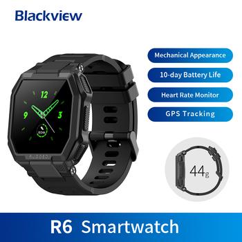 Blackview R6 SmartWatch IP68 wodoodporny wytrzymały inteligentny zegarek tętno sport Tracker aktywności fizycznej i snu dla mężczyzn kobiety IOS Android tanie i dobre opinie CN (pochodzenie) Brak Na nadgarstek Zgodna ze wszystkimi 128 MB Krokomierz Rejestrator aktywności fizycznej Rejestrator snu