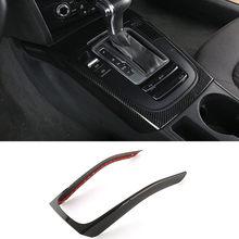 Console central de mudança de engrenagem quadro decoração capa guarnição para audi a4 b8 2009-2016 a5 abs estilo do carro interior modificado