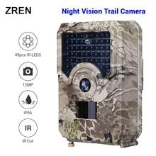 ZREN 12MP охотничья камера noturna фото ловушка scoutguard ночное видение PIR дикая игра Trail камера 1080P fototrappola foto trap
