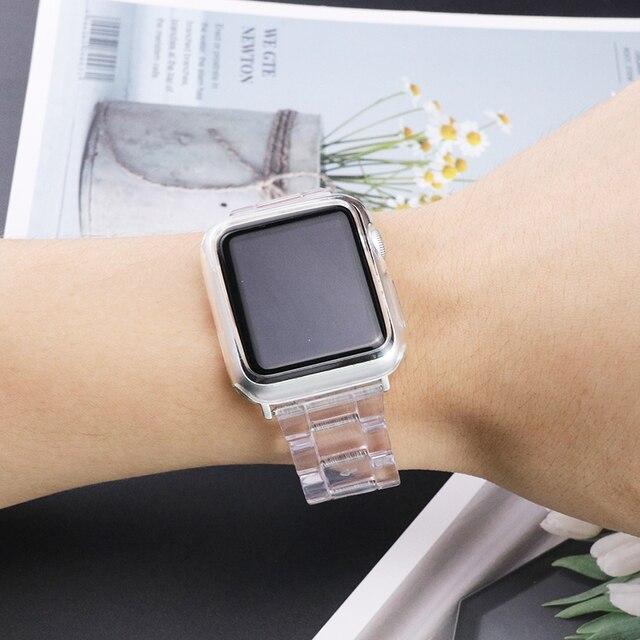 Фото новый спортивный ремешок для apple watch series 6 se 5 4 3 прозрачная цена