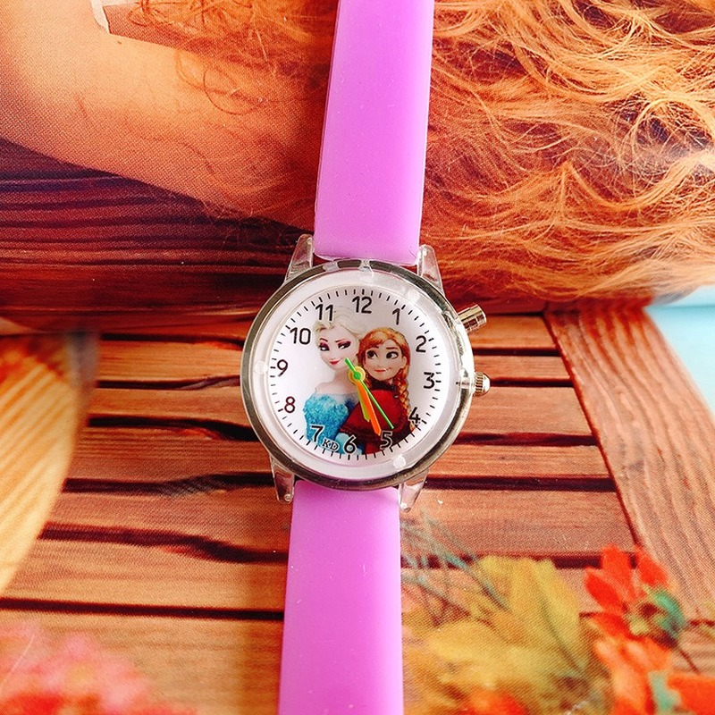 A New 2019 Hit Cartoon Children's Flashing Lights Aisha Glow-in-the-red Silica Gel Band Girl Quartz Watch