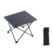 купить Outdoor Portable Foldable Table Camping Flat Tables Picnic Ultra-light Folding Desk Outdoor Beach Backyards BBQ Party Table дешево