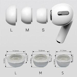 Image 3 - Defean almofada para fones de ouvido, almofada para fones de ouvido com espuma de memória para substituição de eartigos para airpods pro da apple