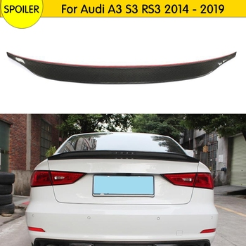 High Quality Carbon Fiber Rear Wing Roof Rear Trunk decorated Spoiler For Audi A3 S3 RS3 2014 - 2019 Trunk Lip Boot Cover