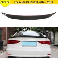 RS3 Spoiler Carbon Fiber Body Kit For Audi A3 S3 RS3 Roof Rear Trunk Splitter Boot Decoration 2014 2019