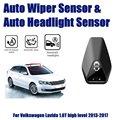 Автомобильные автоматические датчики стеклоочистителя от дождя и датчик фар для Volkswagen VW Lavida 1.6L 2013 ~ 2017 умная система автоматического вожден...