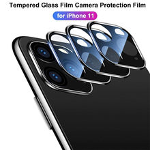 Voor IPhone 11 11 Pro 11 Pro Max Back Camera Lens Screen Protector Film Gehard Glas Metalen Ring Case Cover bumper Cover 19Sep(China)