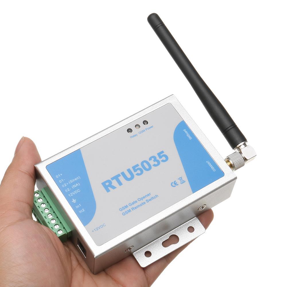 RTU5035 Phone Shaking Control Gate GSM Remote Controller Garage Door Opener It can Monitor the Door. If illegal Entering Happens