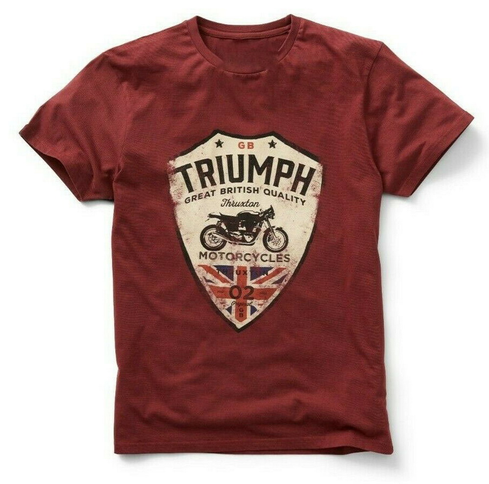 GENUINE TRIUMPH MOTORCYCLE T-SHIRT CAFE RACER MUNT TEE UNION JACK Outdoor Wear Tops Tee Shirt
