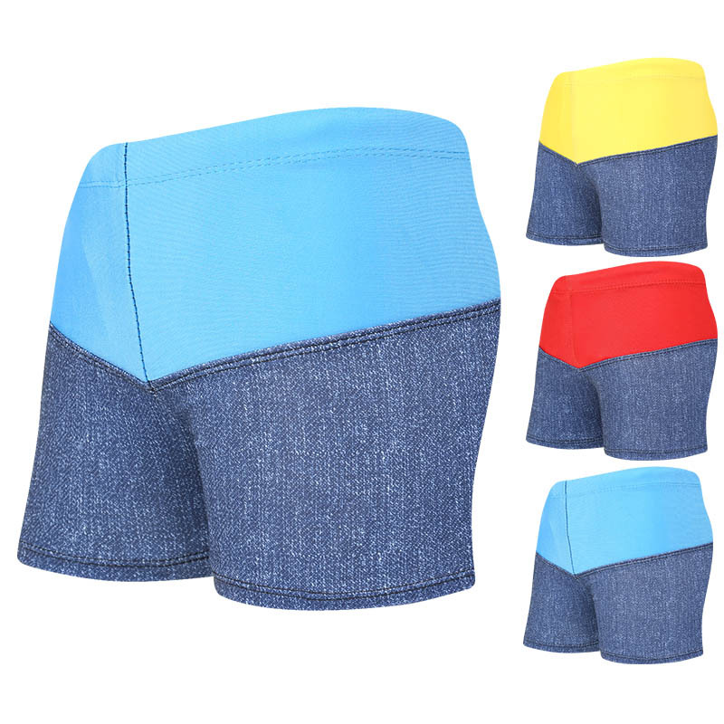 CHILDREN'S Swimming Trunks Loose Comfortable Lace-up Boxer Mixed Colors Children Quick-Dry Swimming Trunks Manufacturers Direct