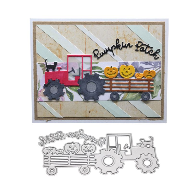 Camion Cat in Metallo Fustelle Stencil Scrapbooking Fai da Te Album di Francobolli di Carta Carta di Goffratura Decor Craft