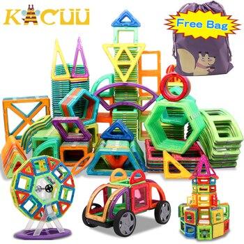 Free Bag Big Size Magnetic Designer Construction Set Model & Building Toy Magnets Magnetic Blocks Educational Toys For Children joylove 21 253pcs children s teaching aids mini magnetic designer construction set model
