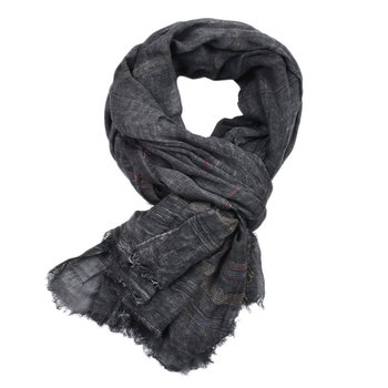 2019 New Casual Men's Scarves Winter Solid Fringe Muffer Cotton Linen Muslim Hijabs Plain Color Shawl Stole 190x90cm