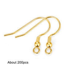 210pcs/pack Clasps Making Accessories Metal Earring Hooks Fashion Silver Electroplating DIY Jewelry Ear Wire Fish Dangle Gold(China)