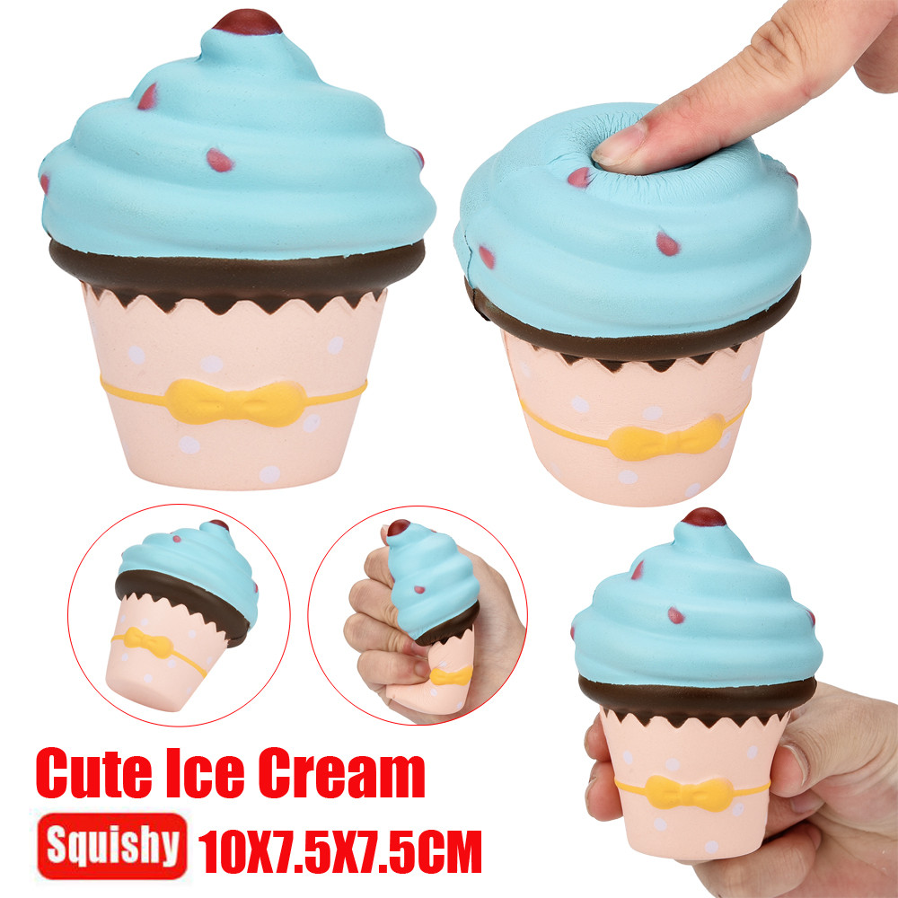 Squishy Galaxy Ice Cream Scented Squishy Charm Super Slow Rising Squeeze Toy