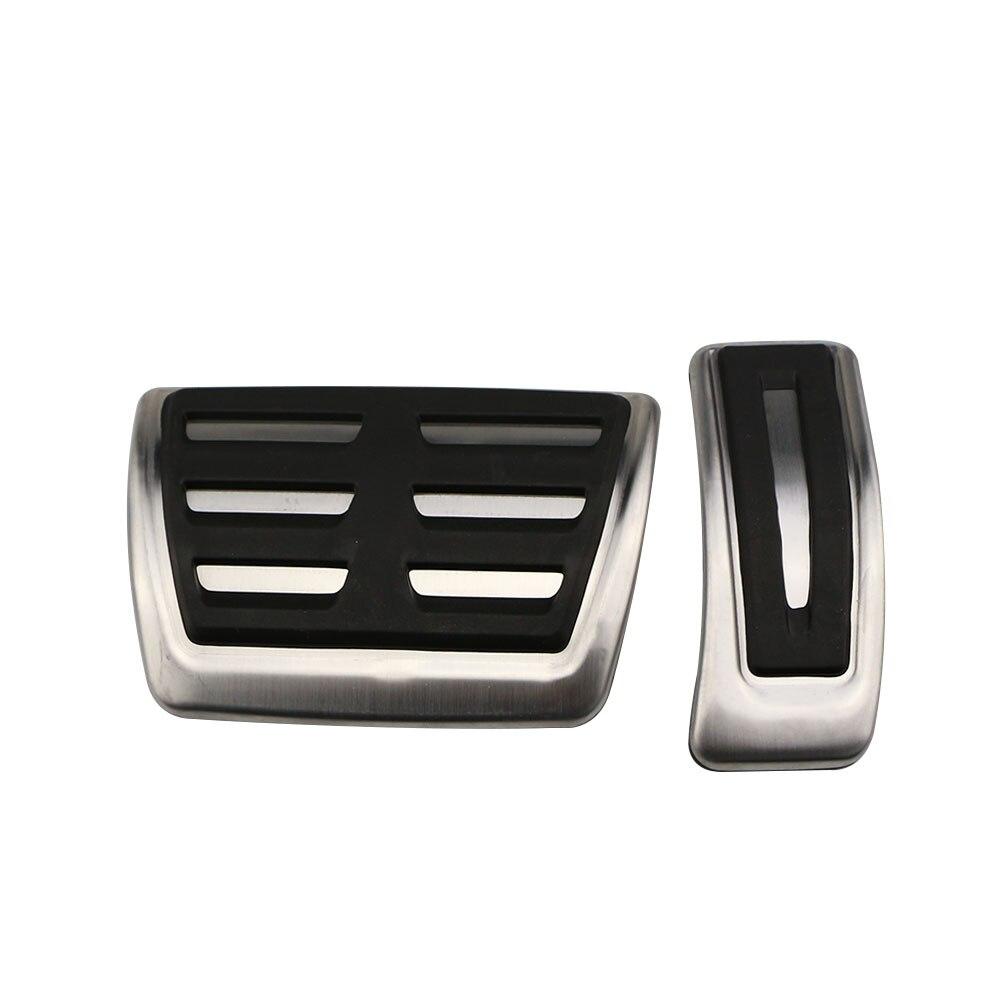 Coche Carmilla de combustible de Pedal de freno de la cubierta de pedales para Audi A4 B8 S4 RS4 Avant 8K Allroad Q3 A5 S5 RS5 8T Q5 8R SQ5 A6 S6 A8 S8 A8L