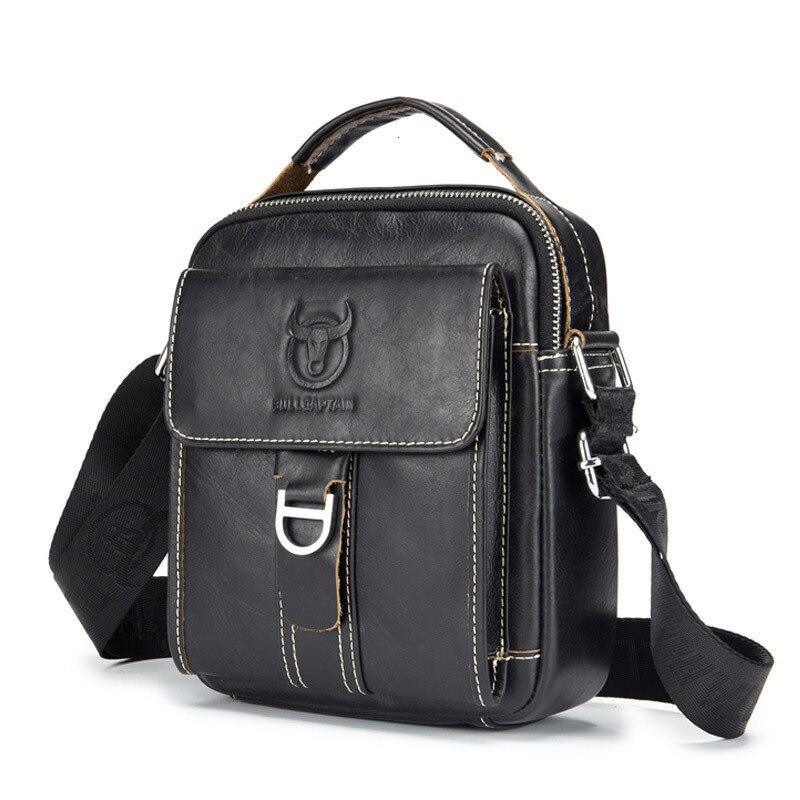 Man Vertical Section Leather Men Bag Leisure Single Shoulder Messenger Head Layer Cowhide More Function Packet Briefcase