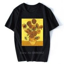 T-shirt Homme blanc, de style artistique, célèbre, Vincent Van Gogh, Les Tournesols, JOLLYPEACH