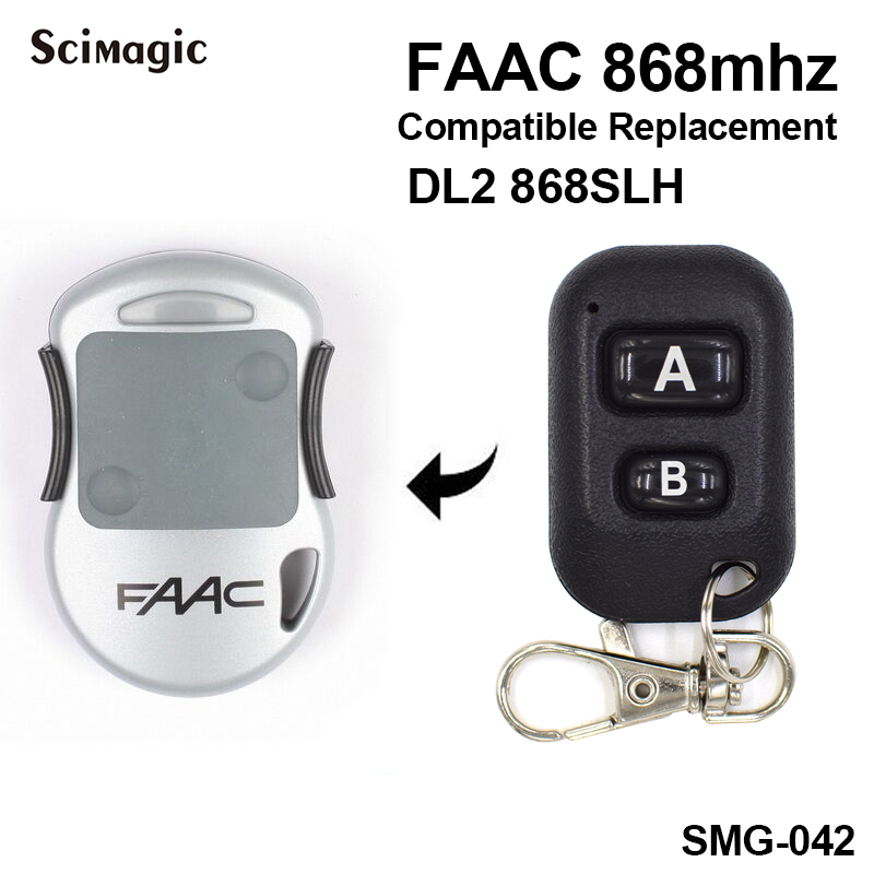 FAAC DL2 868SLH 2 Channels Remote Control 868mhz Garage Door Gate Remote Control FAAC