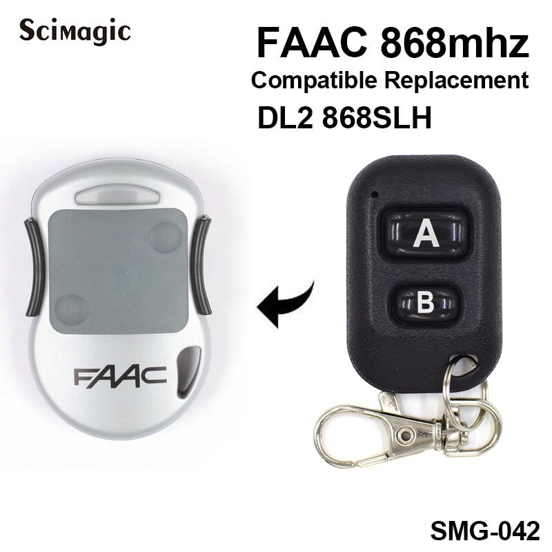 FAAC Garage Door Remote Control 868mhz FAAC DL2 868SLH 2 Channels Remote Control Key Fob