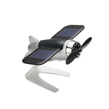 Car Decoration Aromatherapy airplane decoration Non-slip mat alloy Solar energy Rotate aircraft dashboard solid styling