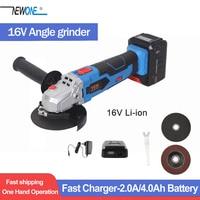 TCH 16V Lithium ion Angle Grinder Wireless Portable Polisher Mini Multifunctional polishing machine 4 Inch Disc Cutting