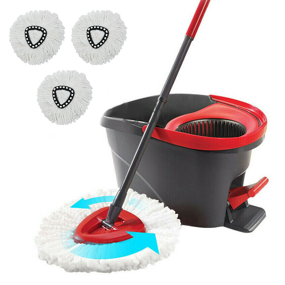 5Pcs 360°Magic Mop Head Rotating Spinning Replacement Micro Head Floor Sweeper