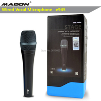 Freies verschiffen  e945 wired dynamische nieren professionelle gesangs mikrofon  karaoke mikrofon  sennheisertype gesangs mikrofon-in Mikrofone aus Verbraucherelektronik bei