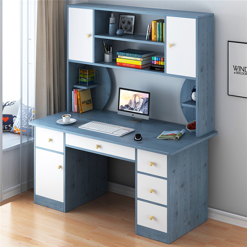 Desktop Computer Desk Table Desk Bookshelf Combination One-piece Simple Multi-functional Household Table Bedroom Simplicity Writ