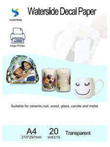 Transfer-Paper Decal Paper-Free Water-Slide-Decal Inkjet Clear A4-Size 20pcs/Lot