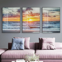 Nordic Sunset By The Sea Wall Art Canvas Painting Pictures For Living Room Home Decoration Picture Decor