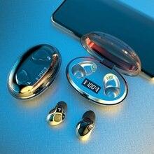 TWS słuchawki Bluetooth Stereo bezprzewodowe słuchawki słuchawki wodoodporne słuchawki douszne z wyświetlaczem LED Sport bezprzewodowe słuchawki z mikrofonem słuchawki
